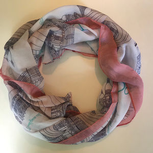 Accessories - New Paris Scarf white black and pink